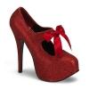 TEEZE-04G Red Glitter